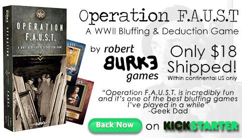 Operation FAUST Kickstarter