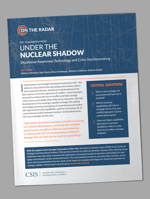 """Key Takeaways from """"Under the Nuclear Shadow: Situational Awareness Technology and Crisis Decisionmaking"""""""