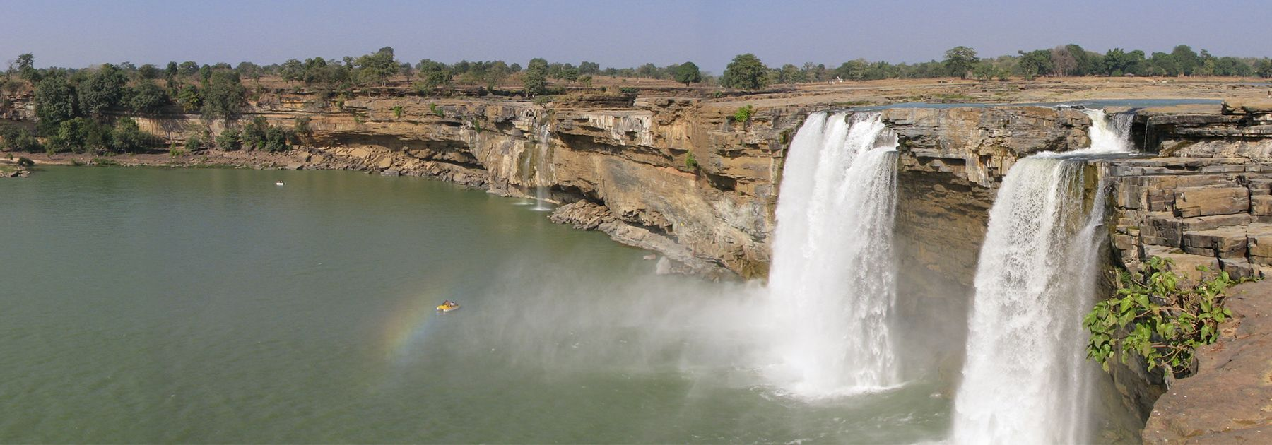 A view of Chitrakot Falls in Jagdalpur. (Vinay Nihal, licensed under CC BY-SA 3.0)