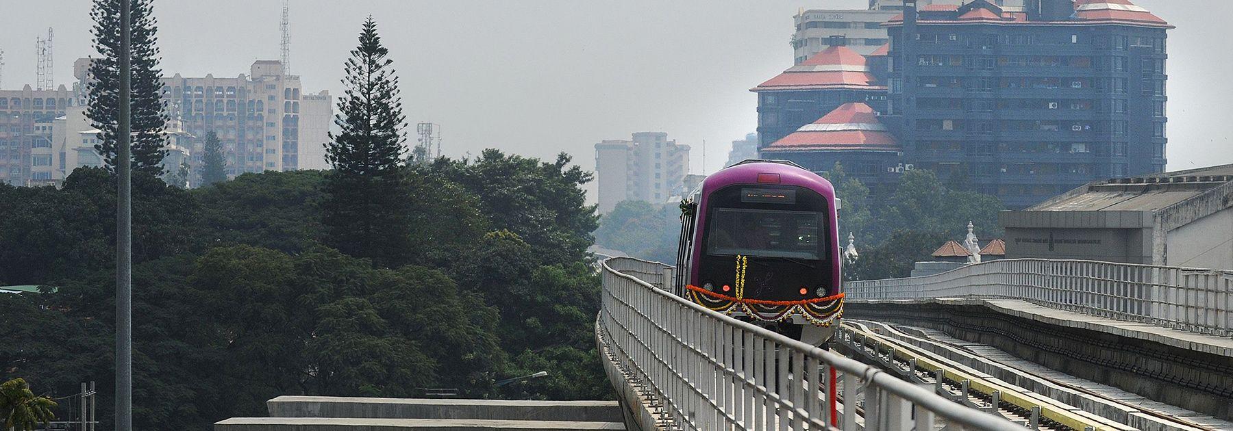 The Bangalore Metro Rail Corporation's Namma metro train. (DIBYANGSHU SARKAR/AFP/Getty Images)