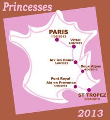 Parcours rallye des princesses 2013