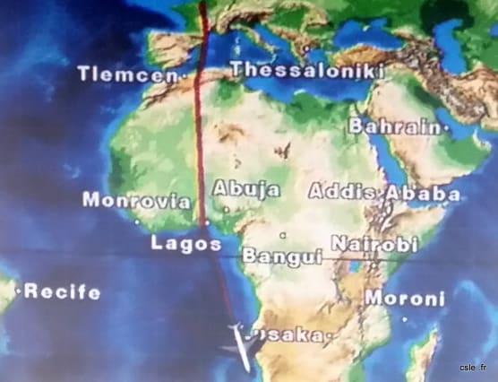 Trajet avion Afique du Sud