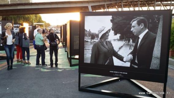 Simone Signoret et Yves Montand -Les stars et la Seine