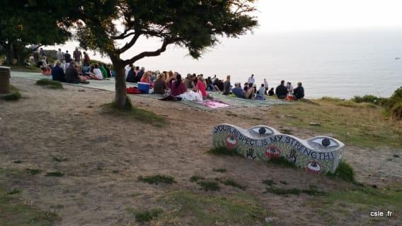 Lieu couché de soleil signal hill afrique du sud