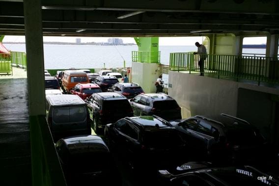 Bateau traversée voiture Lisbonne Comporta Portugal