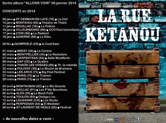 La Rue Kétanou programmation concerts 2014