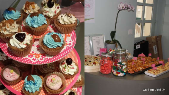 Cupcake Buffet Acer Girly Party - GlossUp beauty Bar Paris