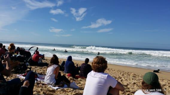 plage compétition surf quik pro france 2015