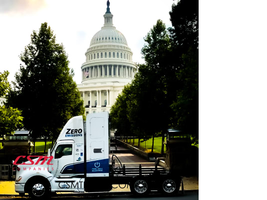 Kenworth T680 Fuel Cell Electric Vehicle Powered by Hydrogen Featured in D.C.