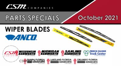 October 2021 Parts Specials – Wiper Blades