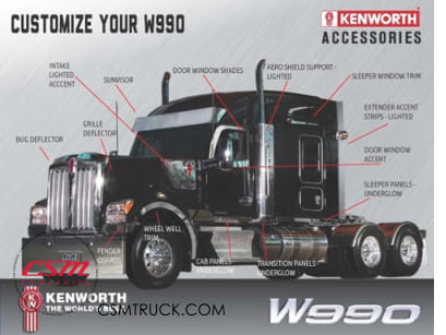 Kenworth W990 Chrome Options Now Available