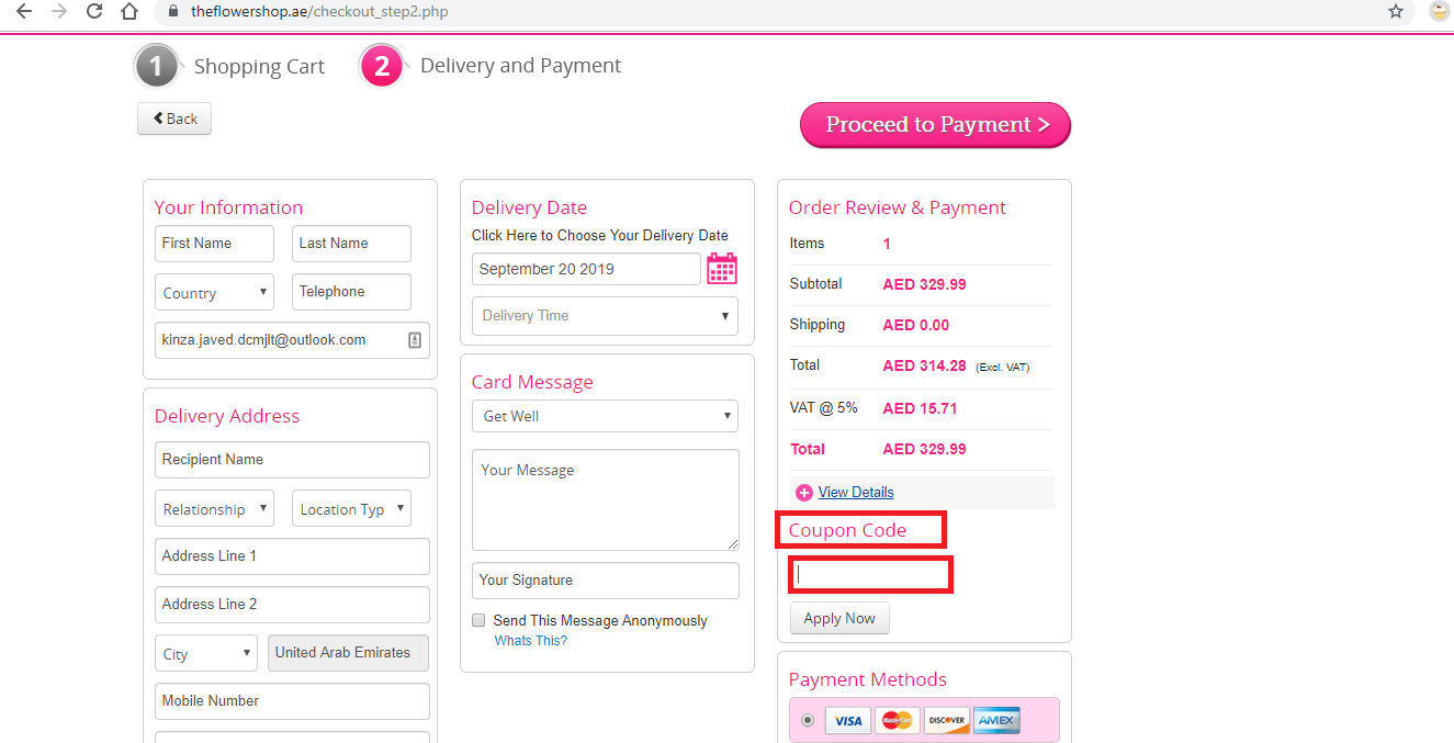 Apply The Flower Shop UAE Coupon Code