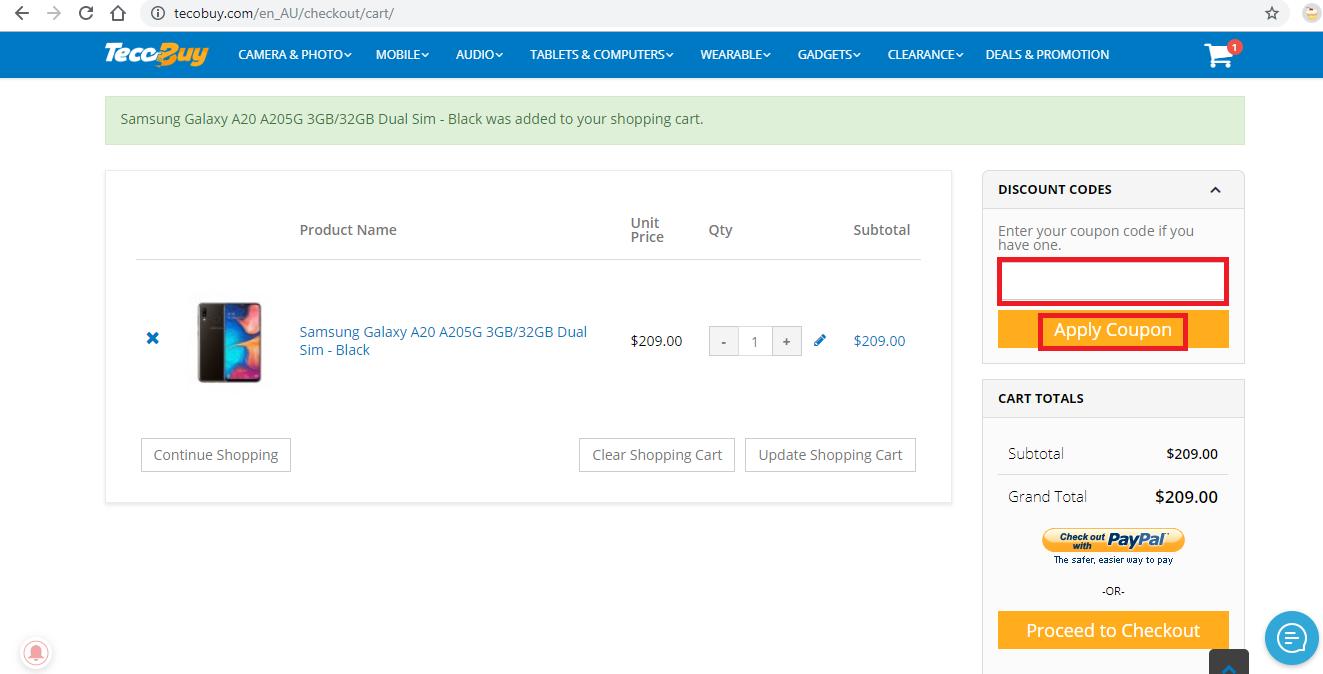 Apply Teco Buy Coupon Code