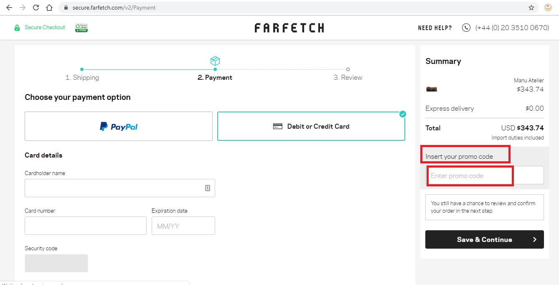 Apply Farfetch Coupon Code