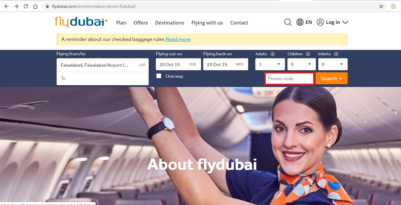 Apply Fly Dubai Coupon Code