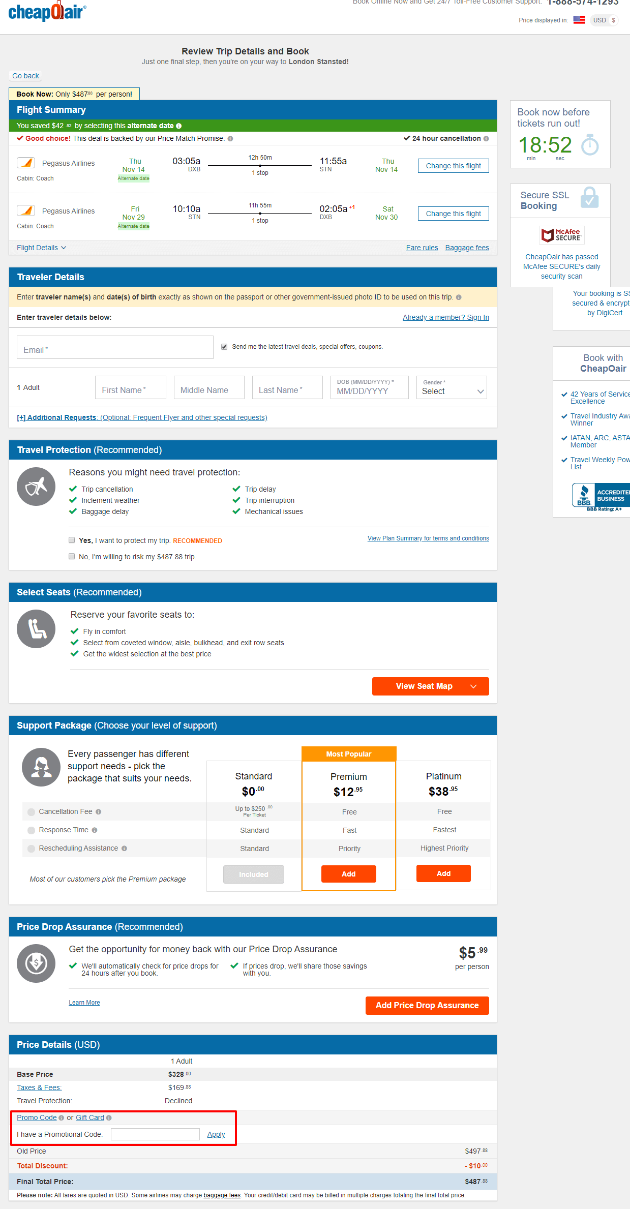 Use CheapOair Coupon Code