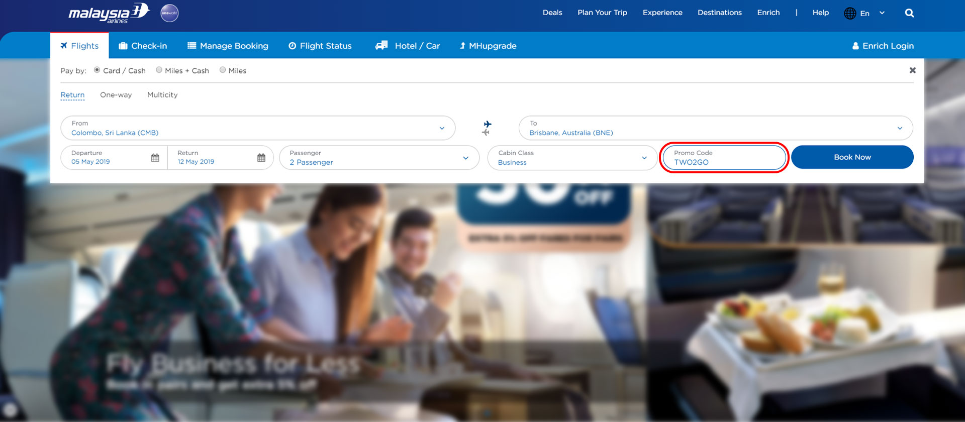 Use Malaysia Airlines Coupon Code