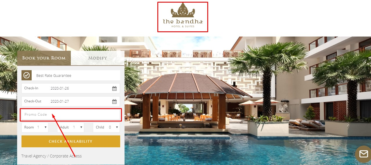 Use The Bandha Hotel & Suites Coupon Code