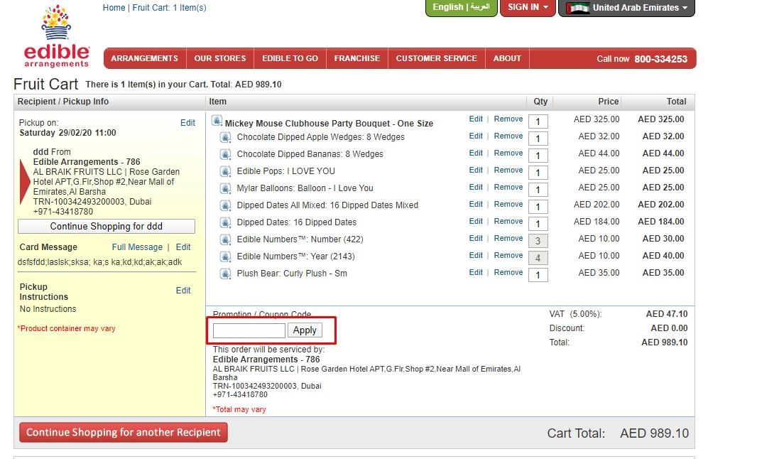 Use Edible Arrangements Discount Codes