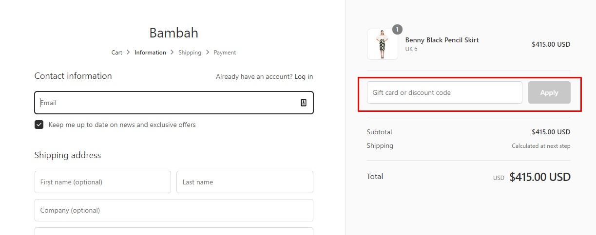 Use Bambah Discount Codes