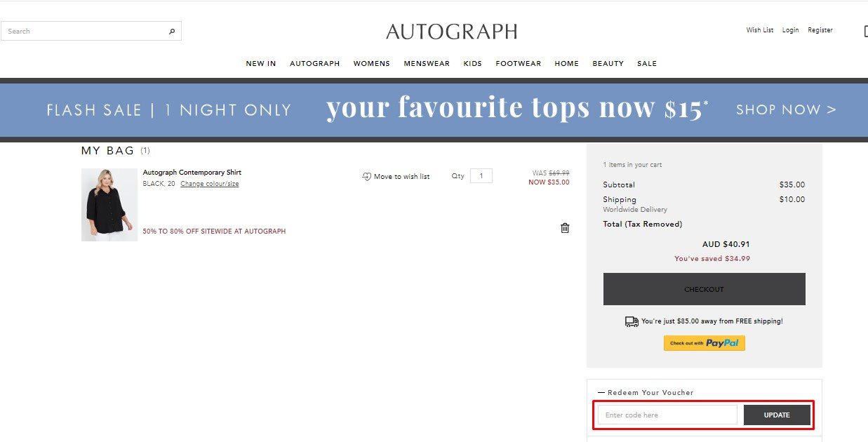 Use Autograph Fashion Discount Codes