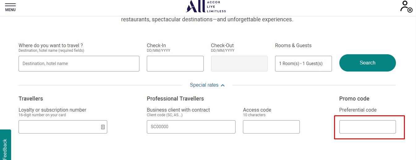 Use Accor Hotels coupon code