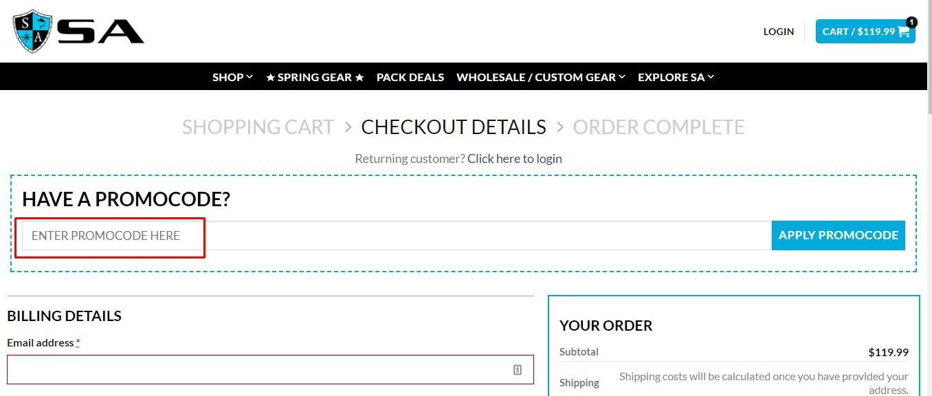 Use Safishing coupon code