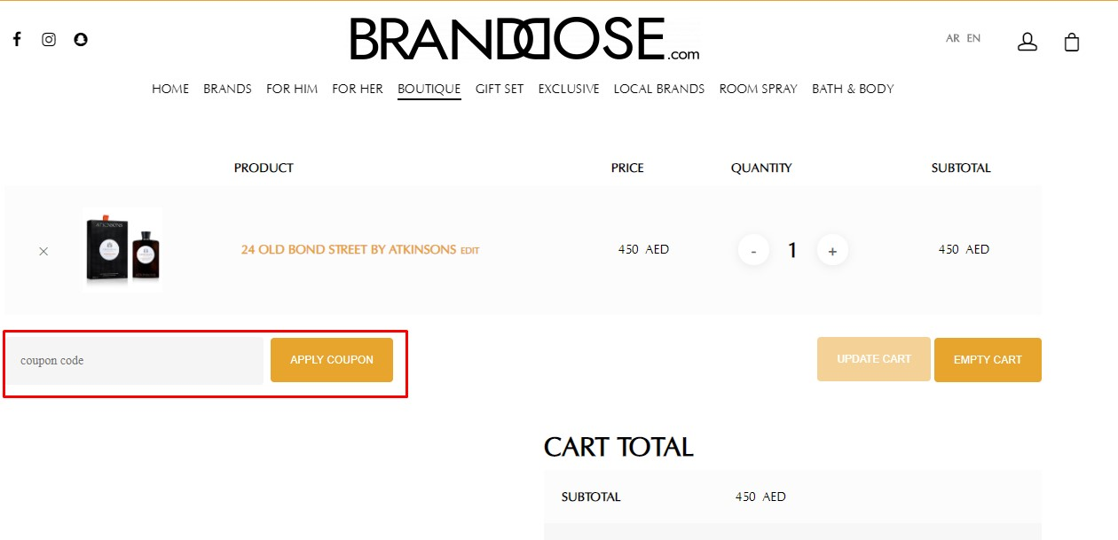 Use Brand Dose coupon code