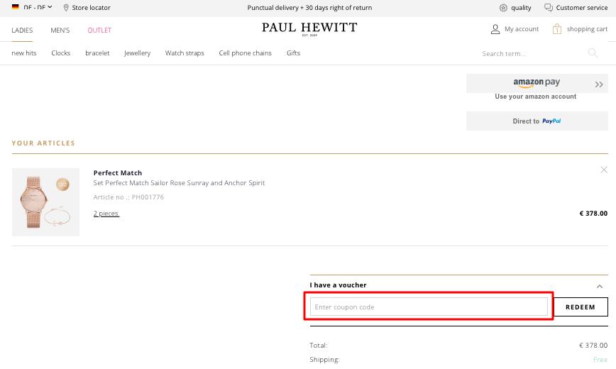 Use Paul Hewitt Coupon Code