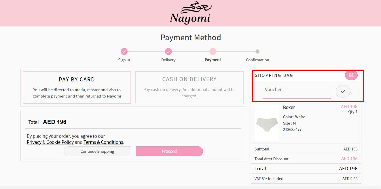 Use Nayomi Promo Code