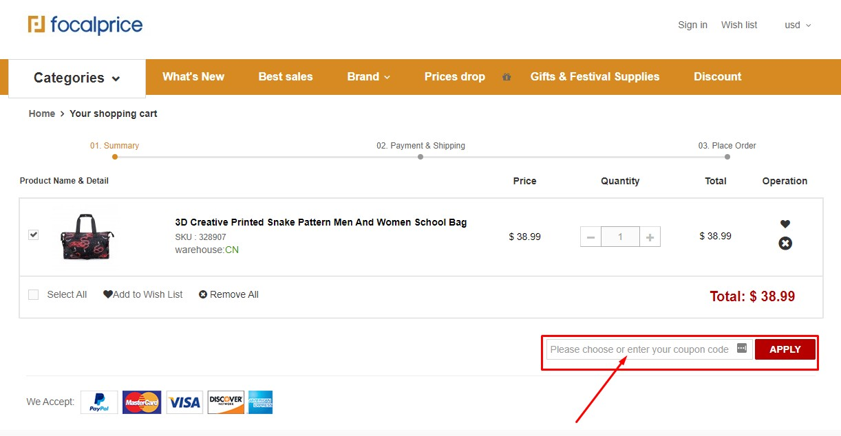 Use Focalprice Discount Code