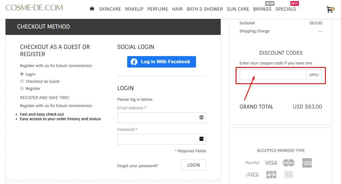 Use Cosme De Discount Code