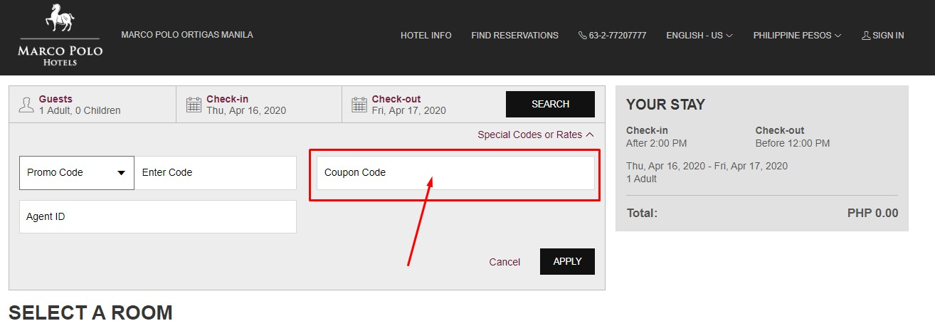 Use Marco Polo Hotels Discount Code
