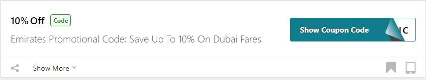 Get Emirates Holidays Coupon Code