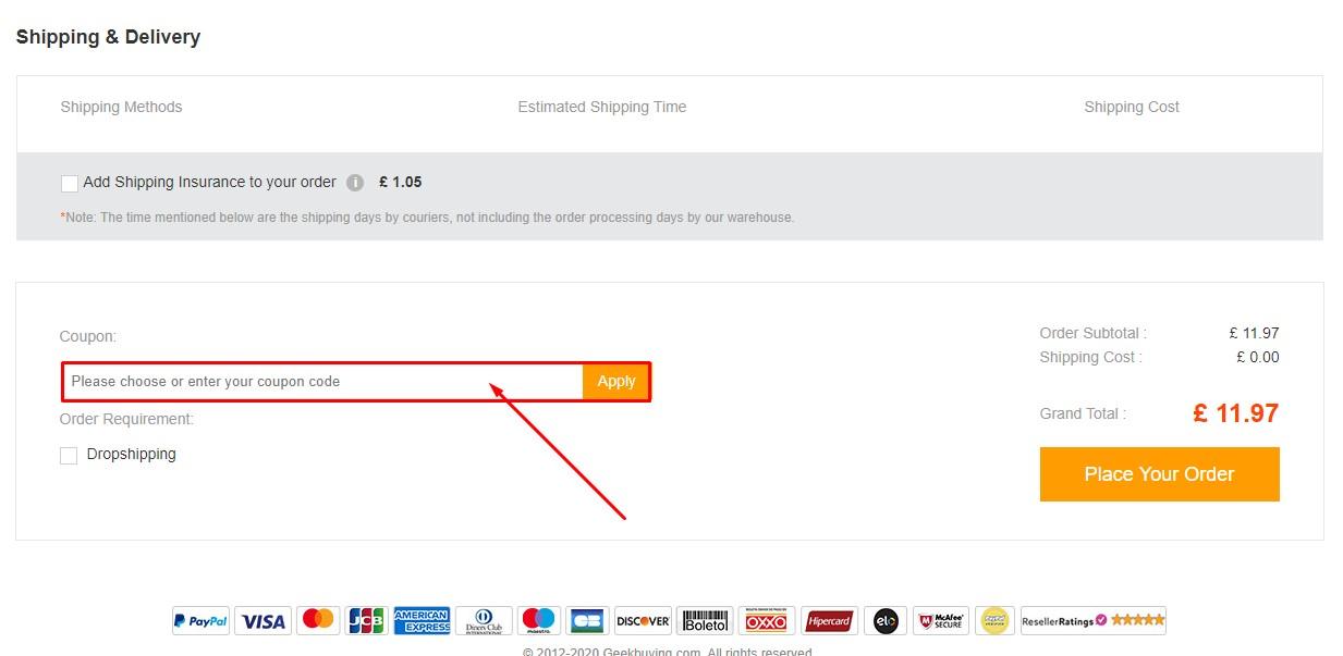 Use Geek Buying Discount Code
