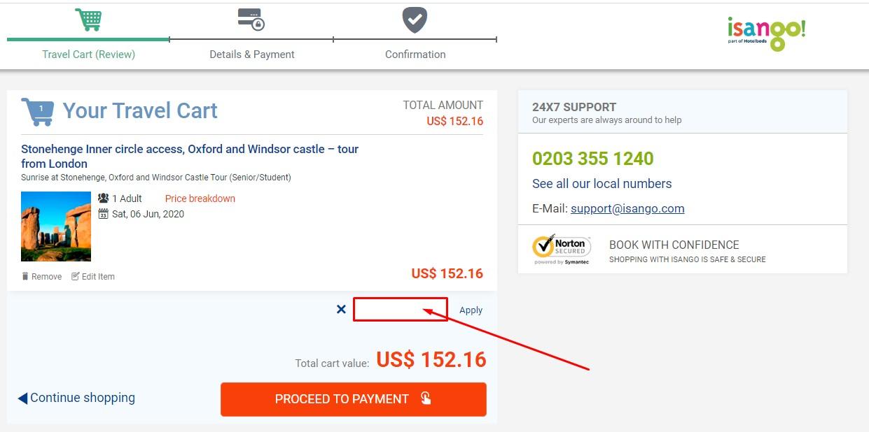 Use Isango Discount Code