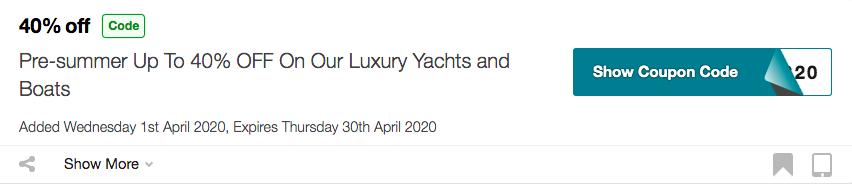 Get Asfar Yacht Coupon Code