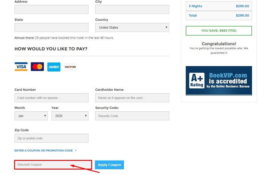 Use BookVIP Discount Coupon