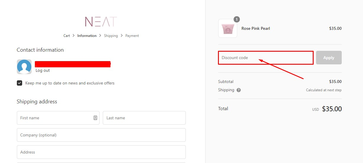 Use Neat Shop Discount Code