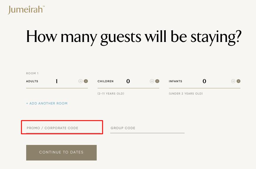 Use Jumeirah Hotels & Resorts Coupon Code