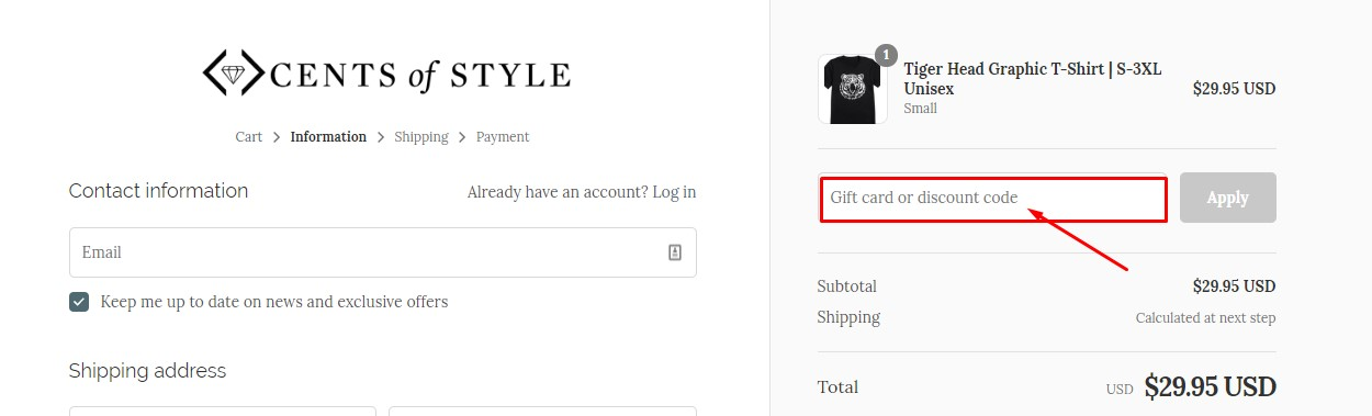 Use Cents Of Style Discount Code