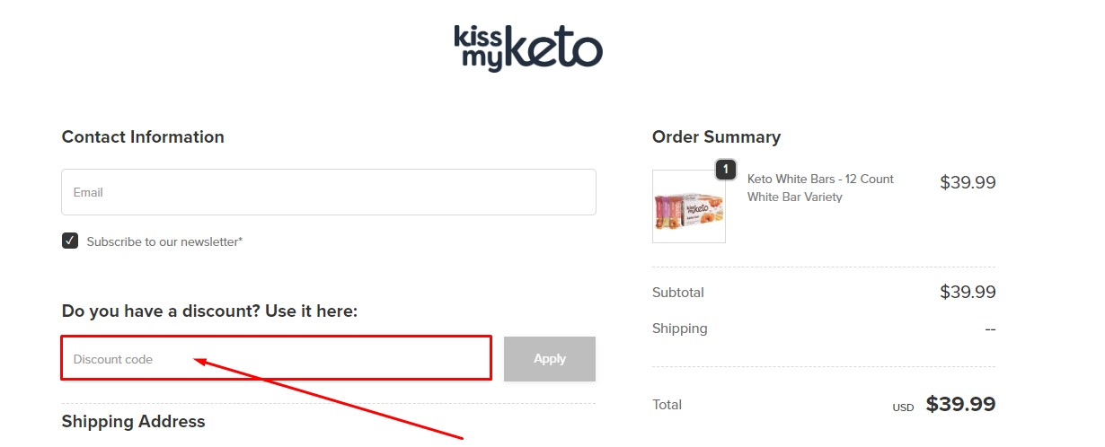 Use Kiss My Keto Discount Code