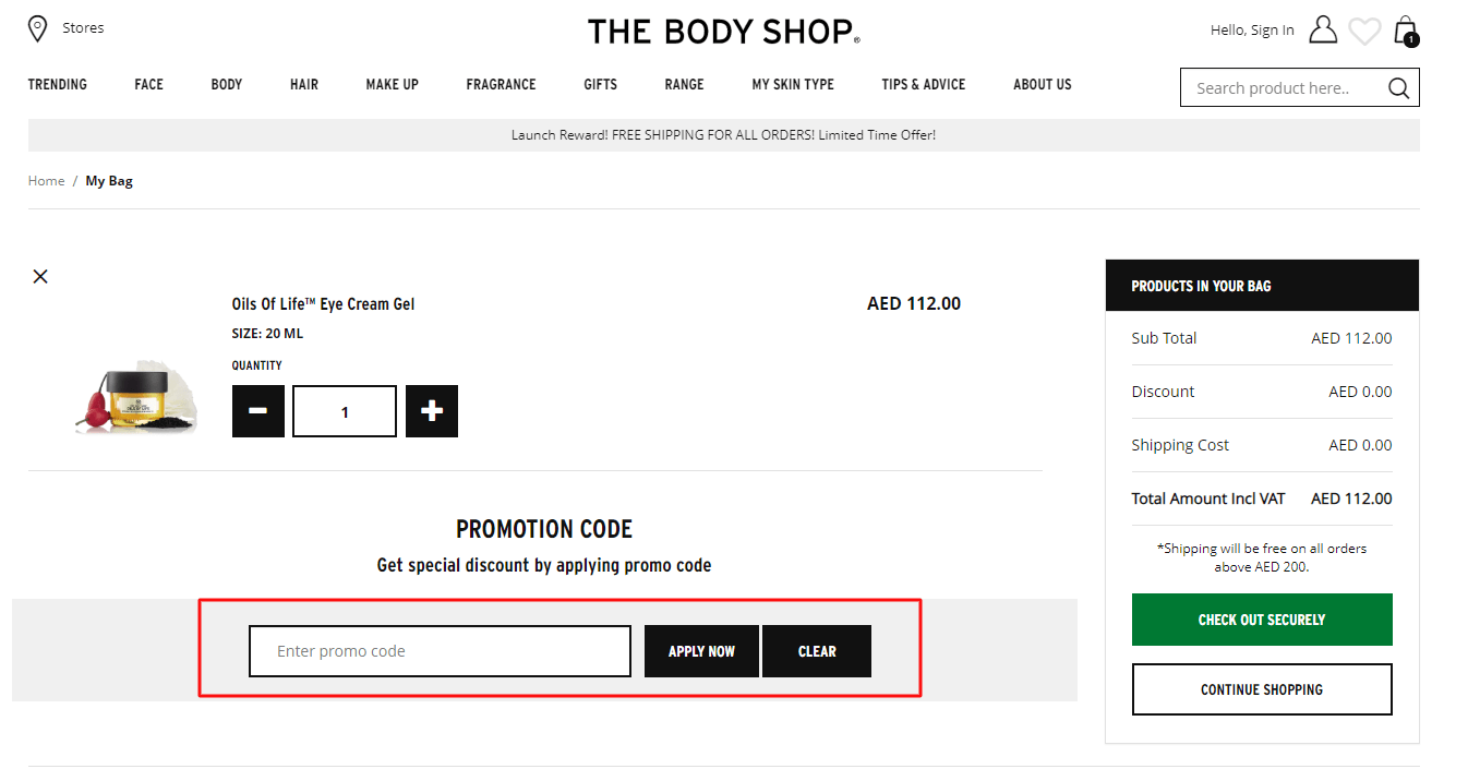 Use The Body Shop Coupon Code