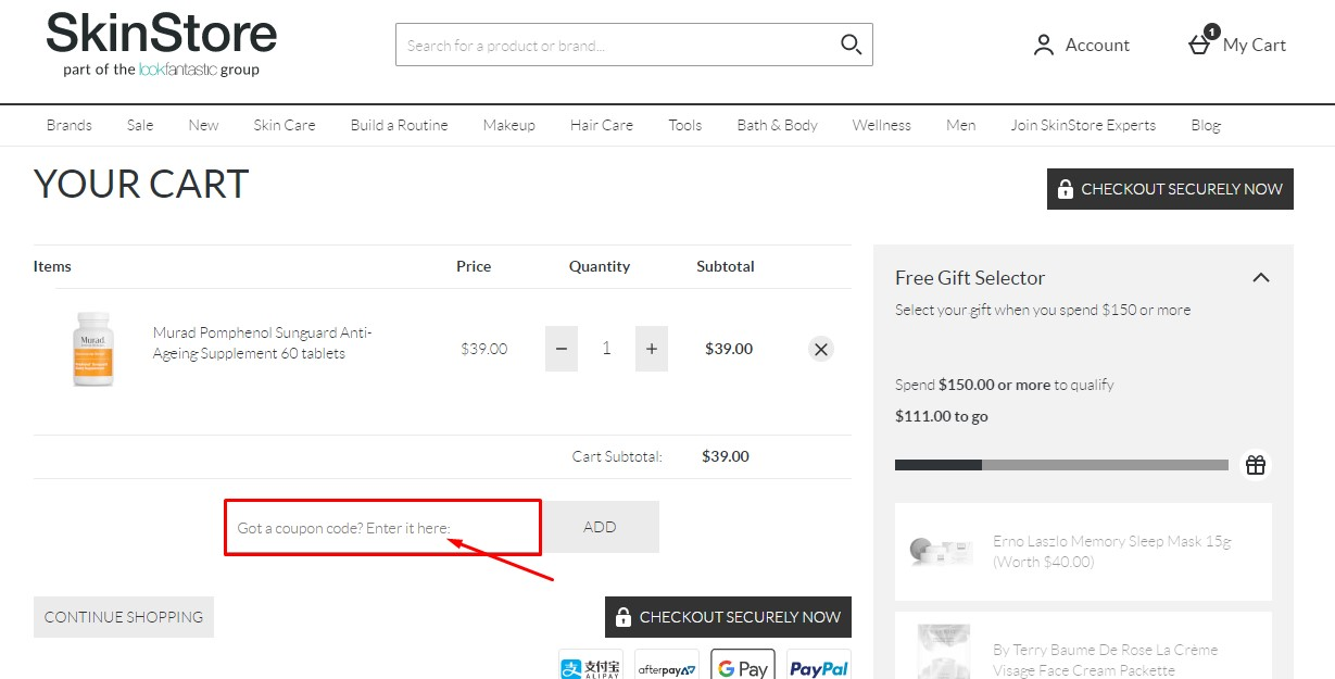 Use SkinStore Coupon Code
