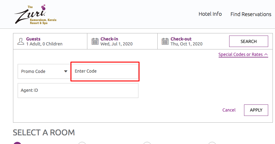 Use The Zuri Hotels Coupon Code