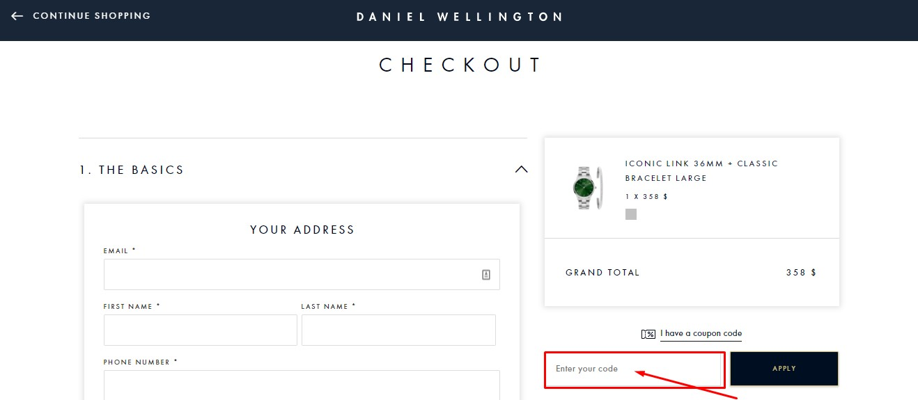Use Daniel Wellington Coupon Code