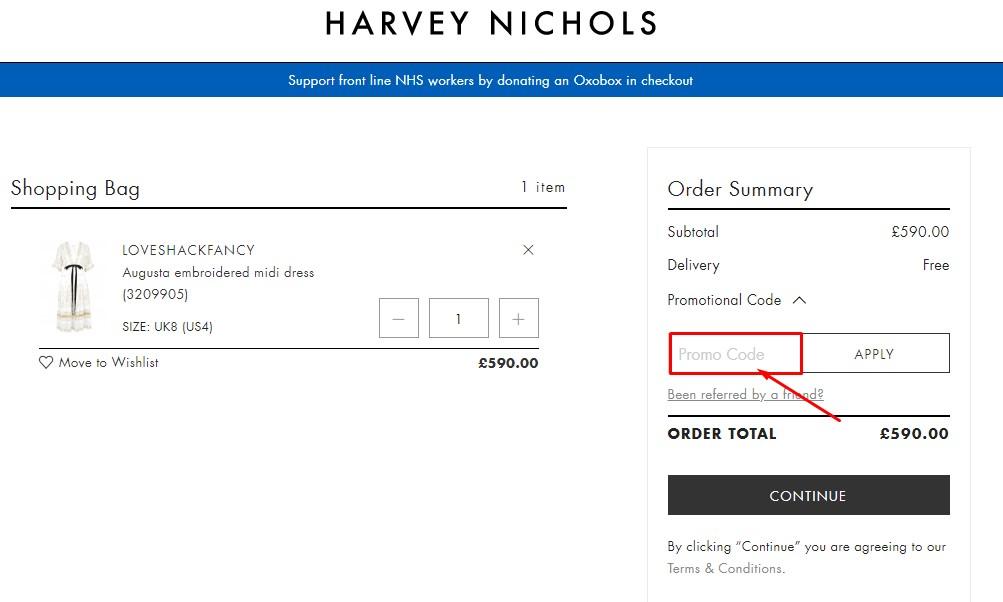 Use Harvey Nichols Coupon Code