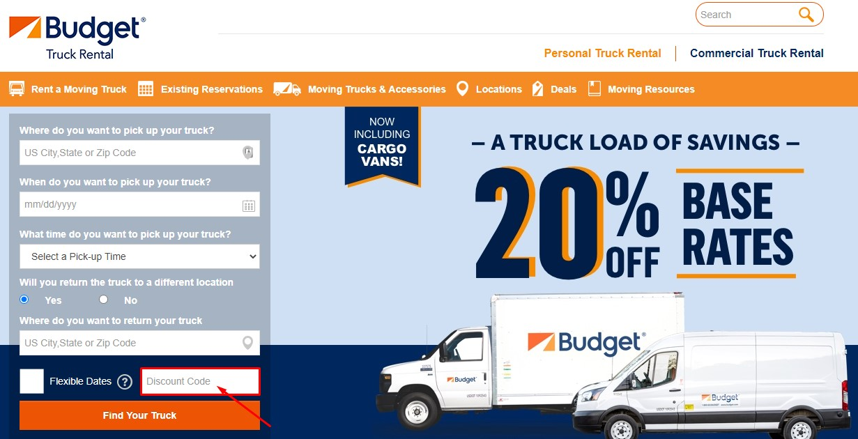 Use Budget Truck Rental Coupon Code