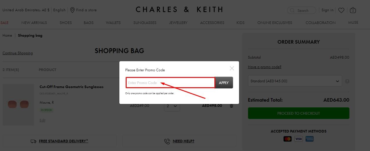 Use Charles & Keith Coupon Code