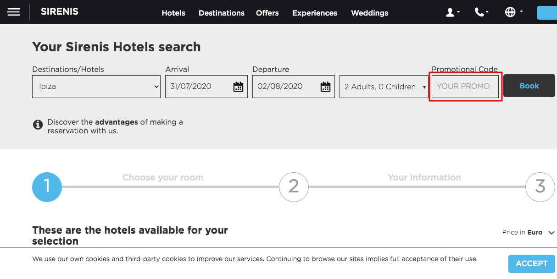 Use Sirenis Hotels Promo Code
